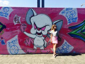Pink Graffiti Street, Antwerp