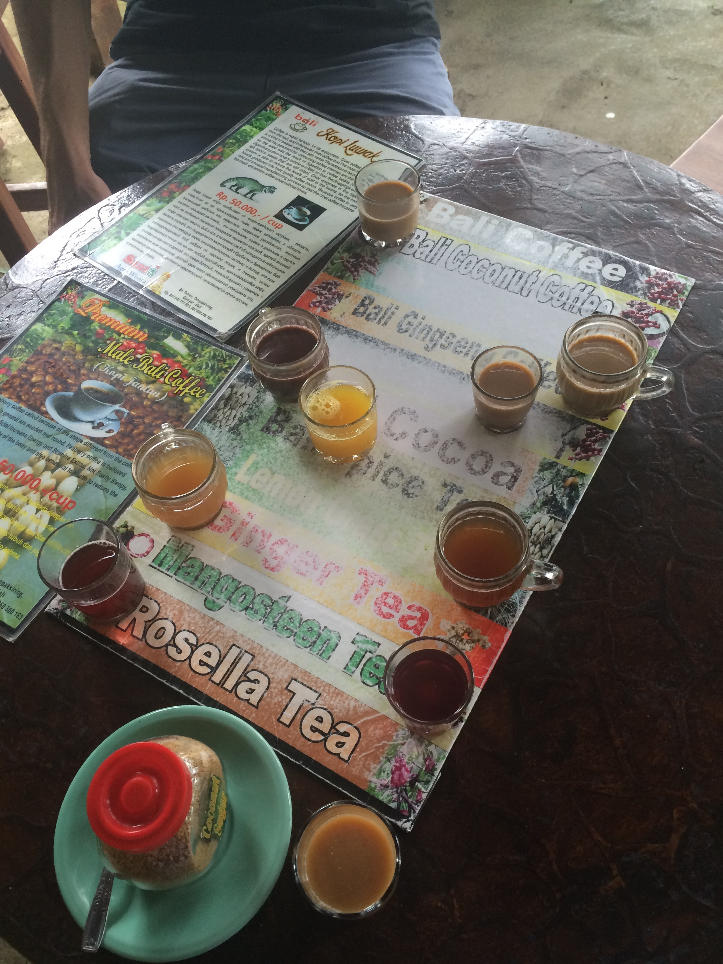Coffee selection, Ubud