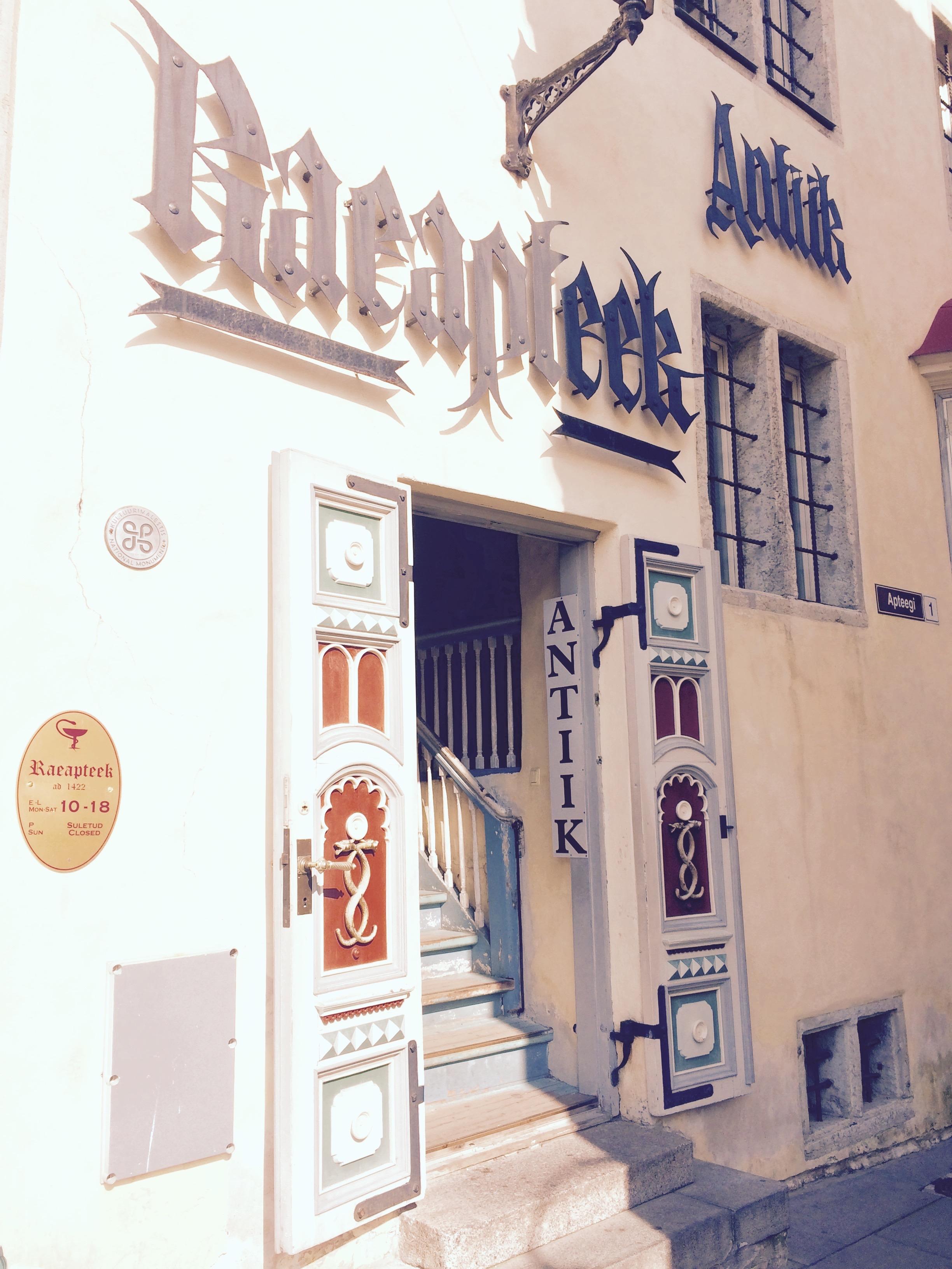 The oldest pharmacy in Tallinn, Estonia