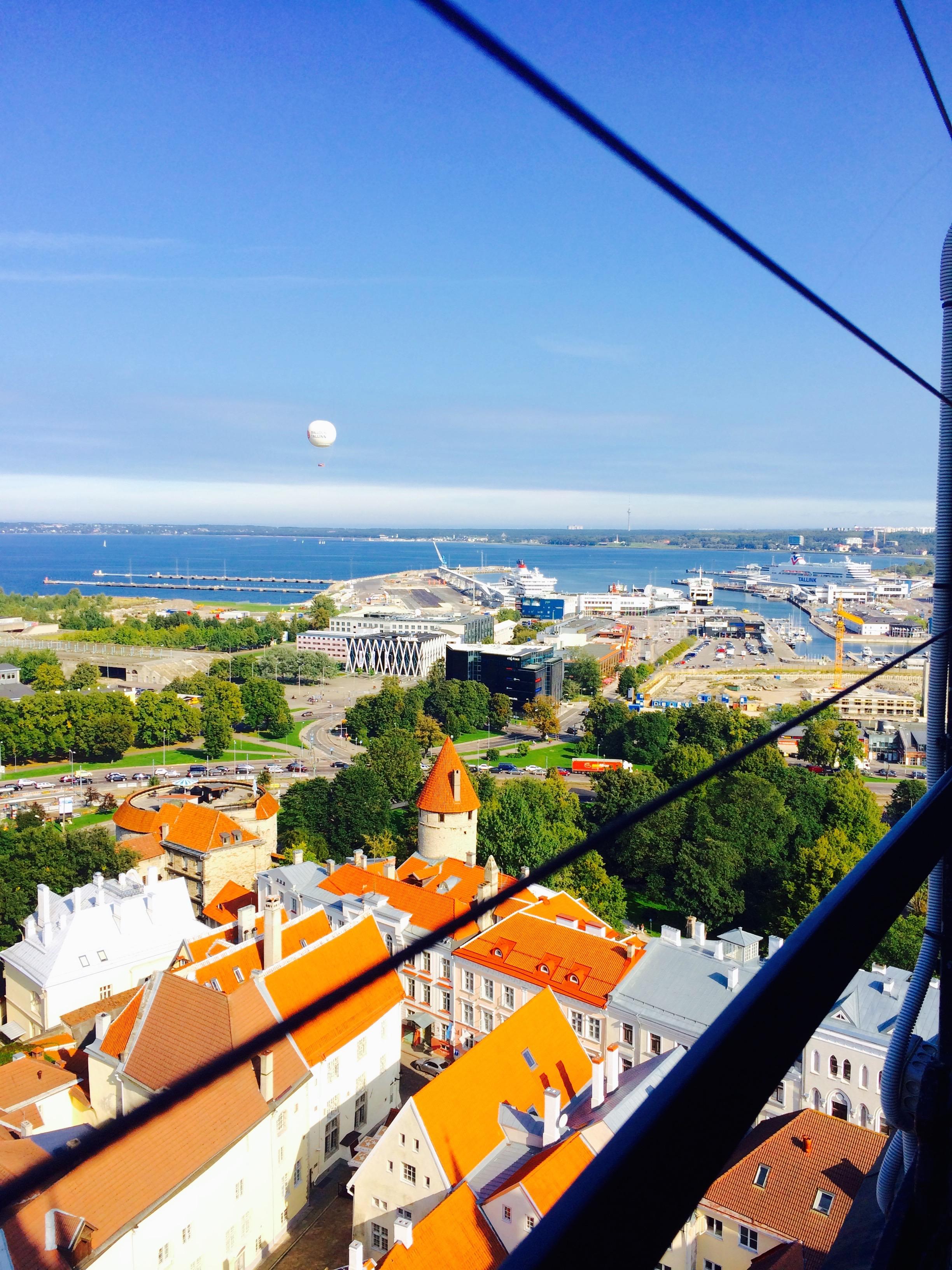 View from St. Olaf's Church in Tallinn, Estonia