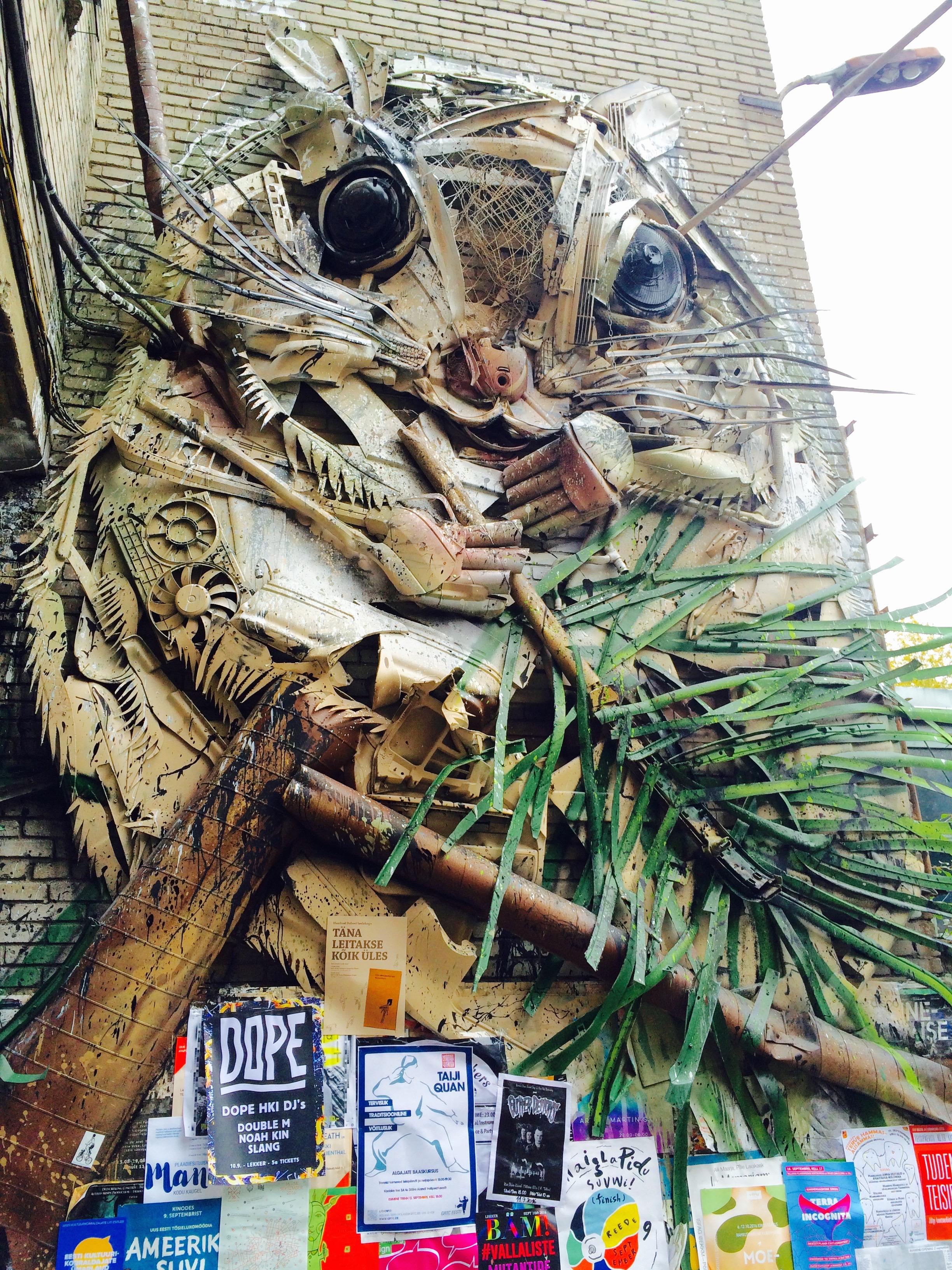 Street art of Telliskivi Loomelinnak: Giant hamster