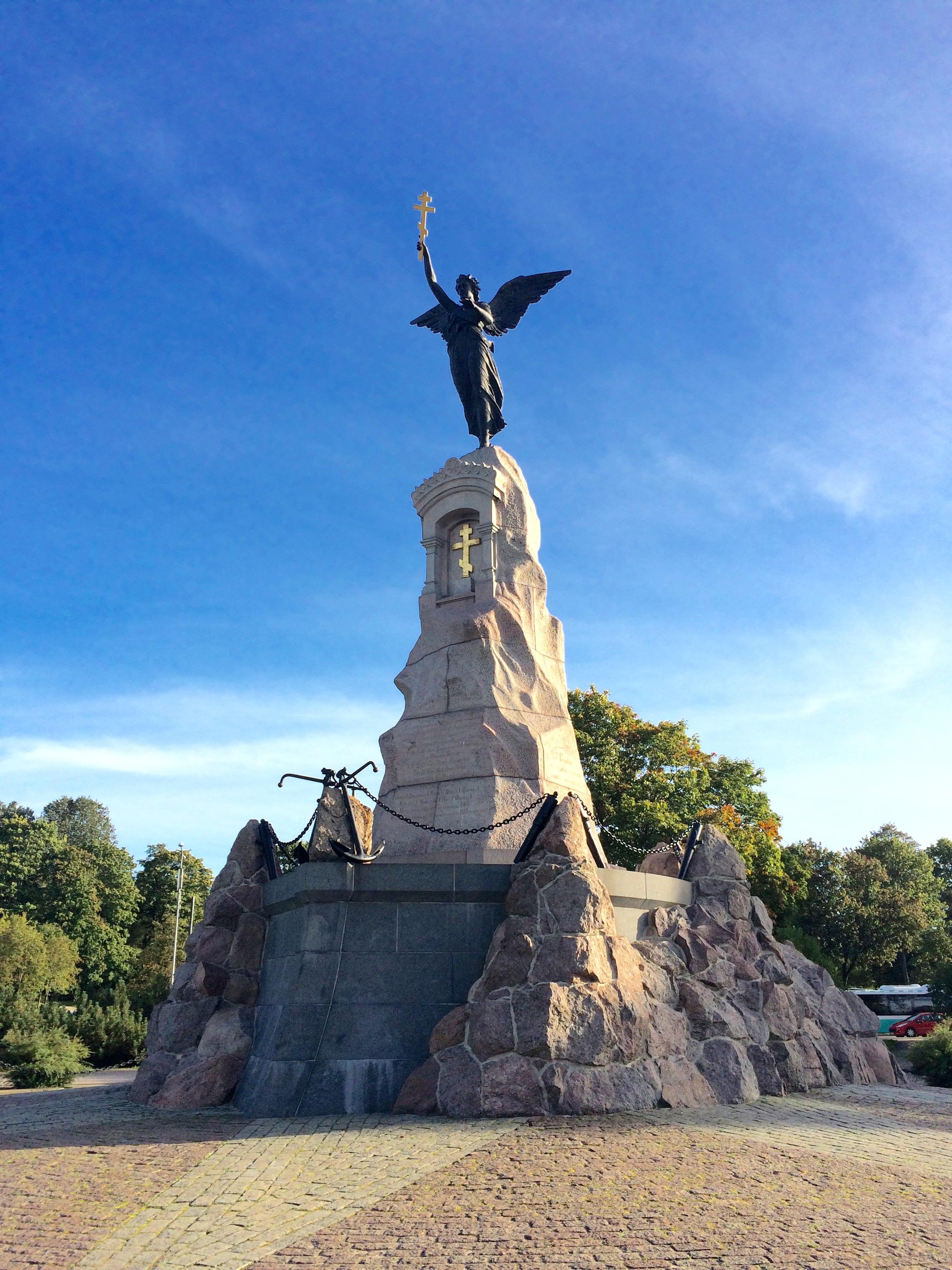 "Memorial of the Russian ship ""Rusalka"" in Tallinn, Estonia"