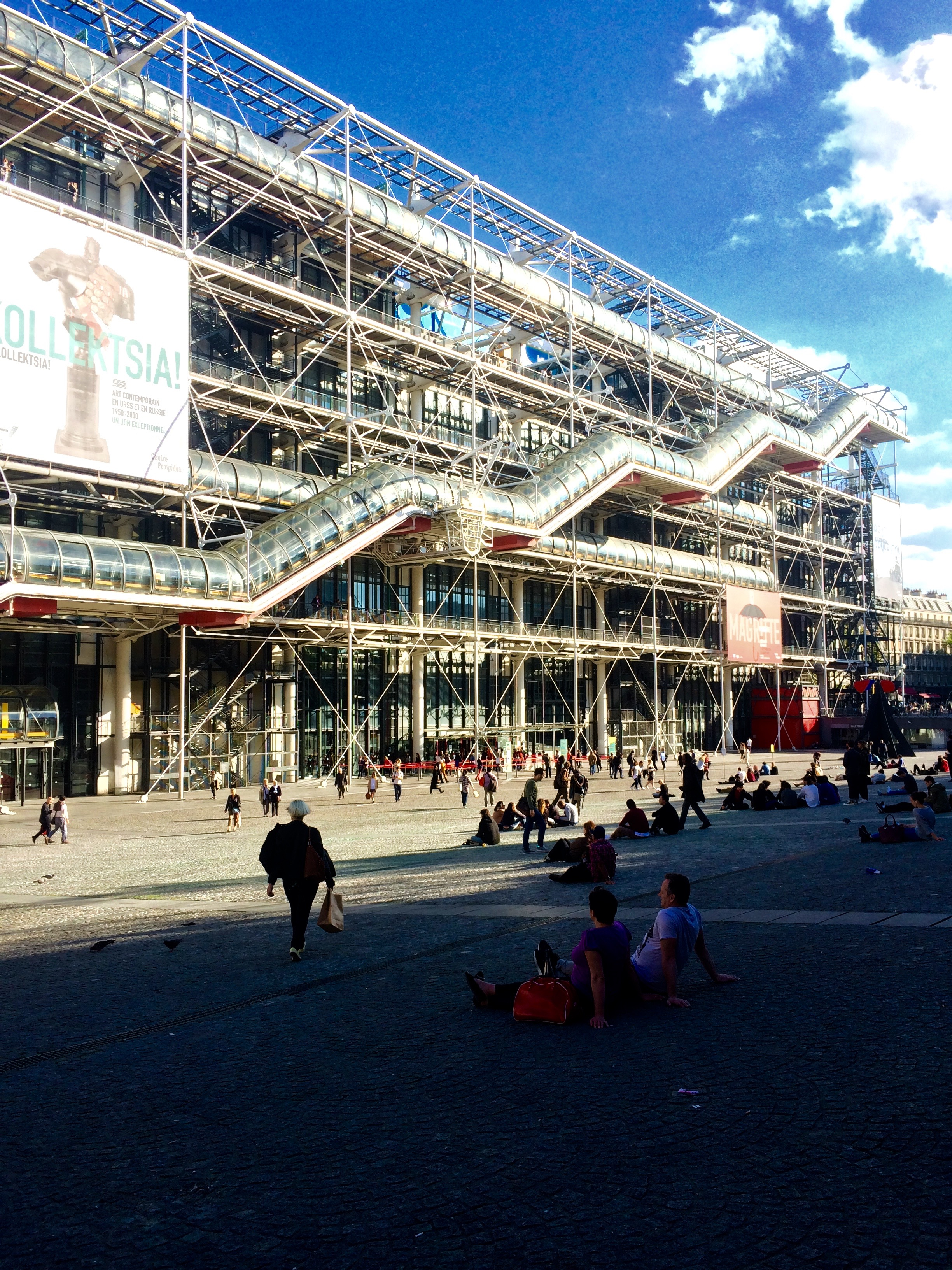 Well-known Centre Georges Pompidou in Paris, France