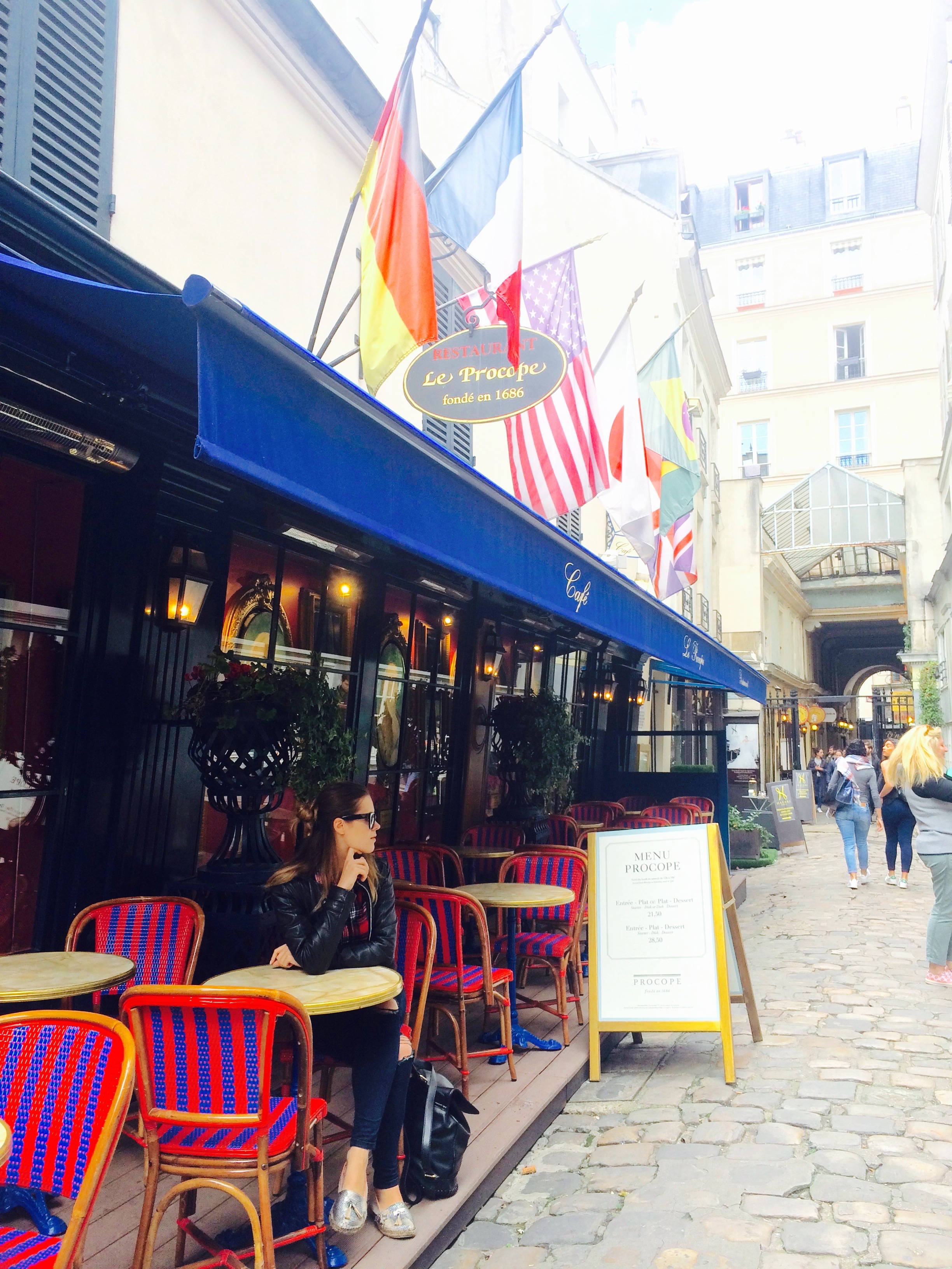 Very first café, where coffee was served in Paris, France