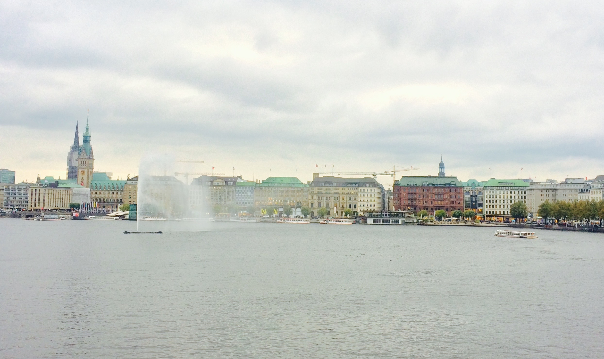 Innenalster,City center of Hamburg, Germany