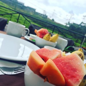 Breakfast at Villa Tea Fields Hotel