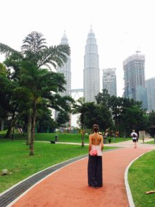 Pertains Towers, view from KLCC Park