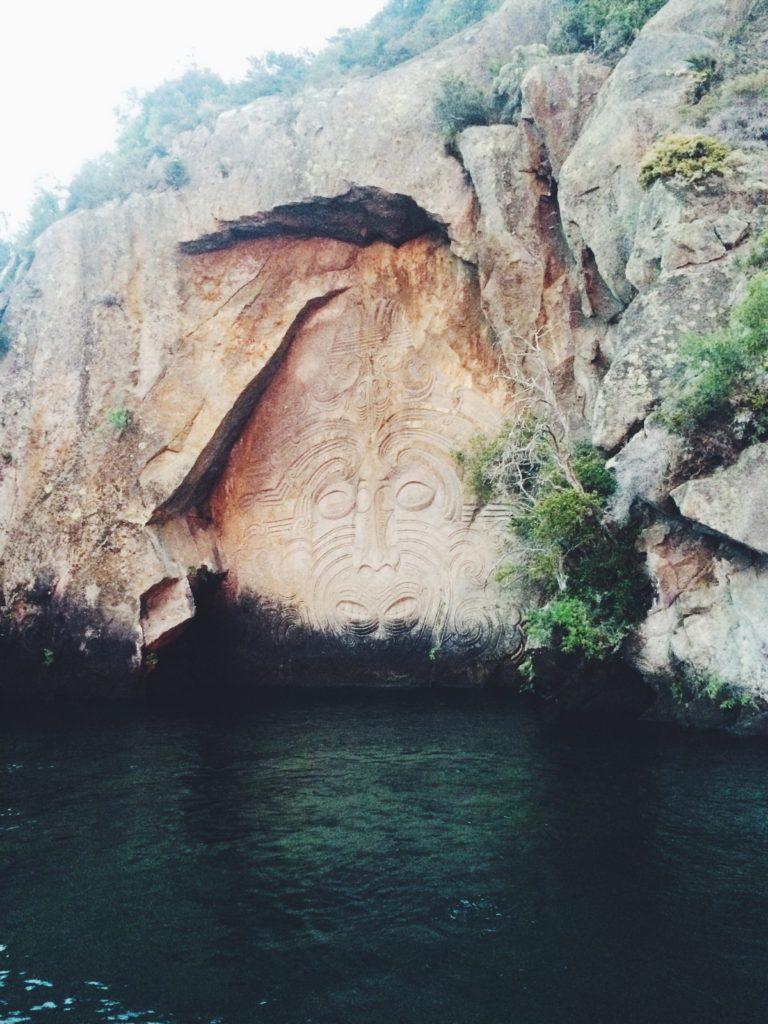 Maori Rock Carvings Lake Taupo, New Zealand