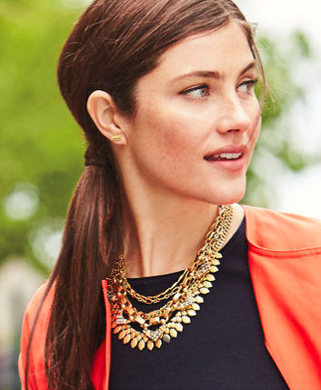 Stella & Dot bold jewelry with statement