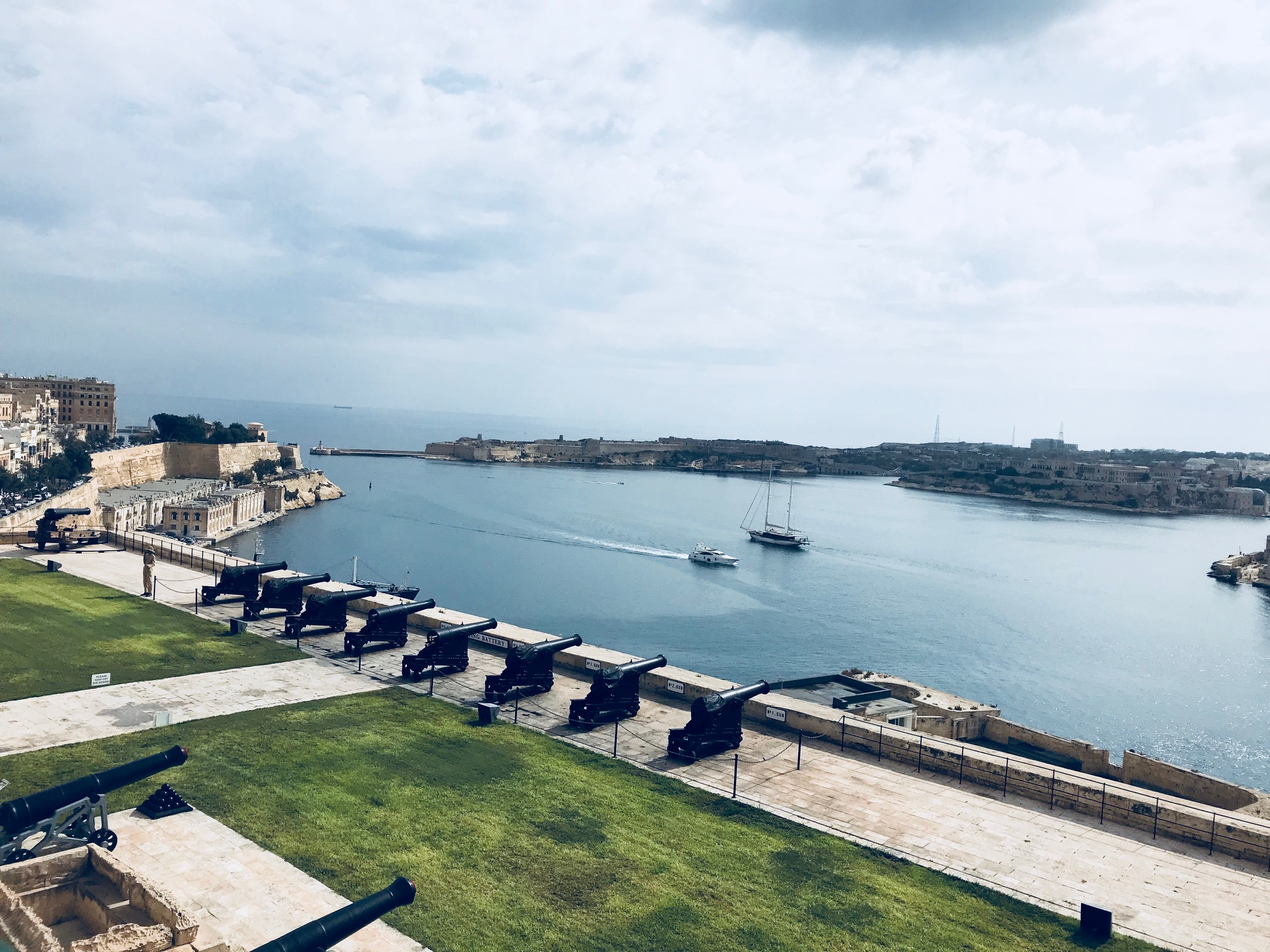 View from the Upper Barrakka Gardens in Valletta