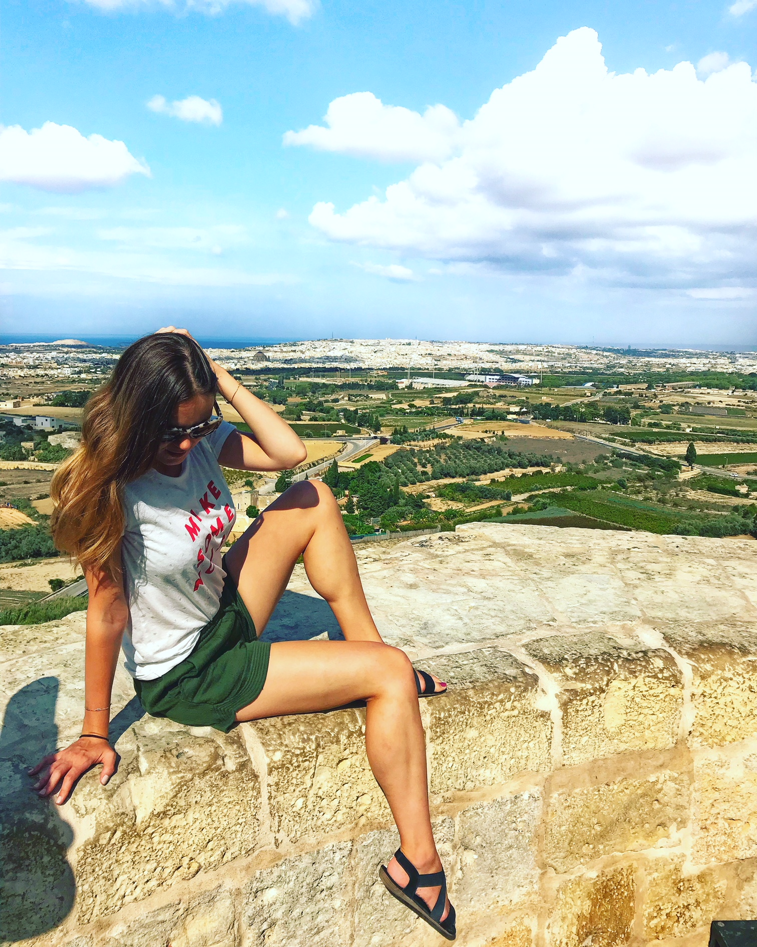 The View from the Top of Mdina, Malta