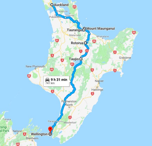 7 days Itinerary for the North Island, New Zealand