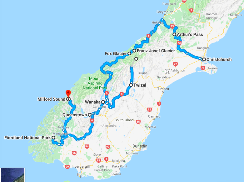 From Christchurch to Queenstown Itinerary