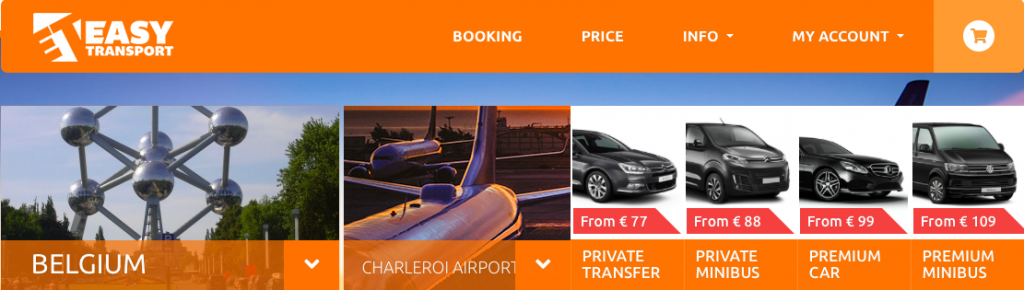 How to book airport transfer with easy transport