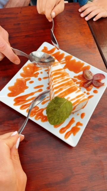 Cheesecake at Dinner at Noobai Cafe